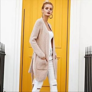 Tops - Blush Color Warm & Fuzzy Side Slit Cardigan
